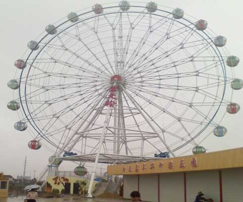 Amusement Park Giant Ferris Wheel