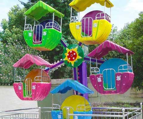 Kids Mini Ferris Wheel Ride With 5 Cabin