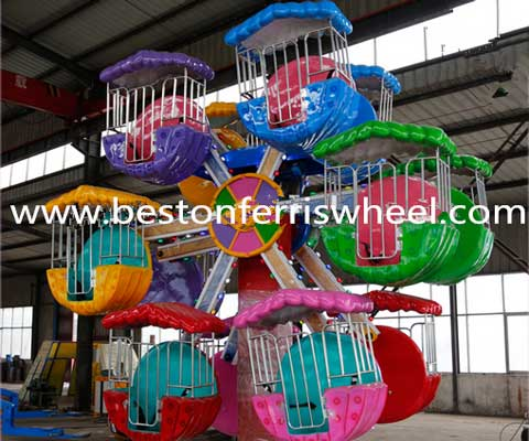 Mini ferris wheel double side ride for sale