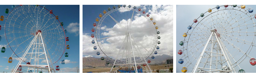 Amusement Park Large Ferris Wheel