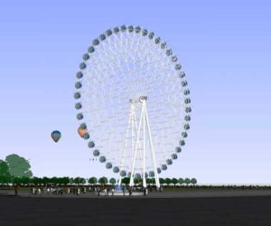Large 72 meter ferris wheel for sale