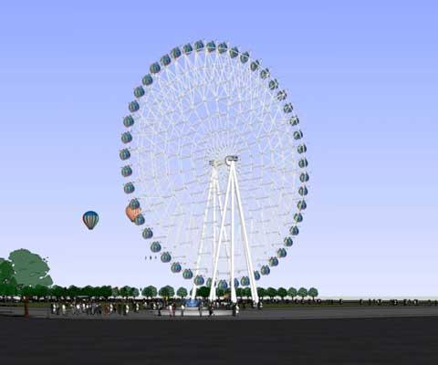 Large 72 meter ferris wheel for sale