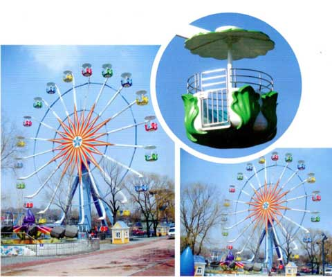 Amusement park ferris wheel with 36 meter for sale