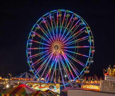 Large 62 meter ferris wheel rides for sale
