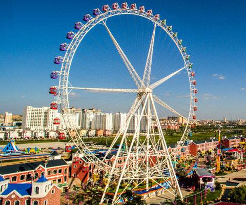 50 M Ferris Wheel In the Park