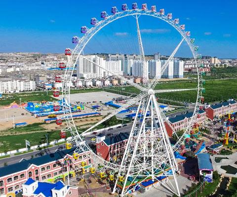 50 M Ferris Wheel In the City